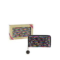 Floozie by Frost French - Multi-coloured sequin large zip around purse in a gift box