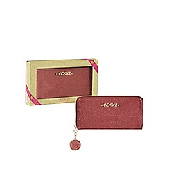 Floozie by Frost French - Pink glitter large zip around purse in a gift box