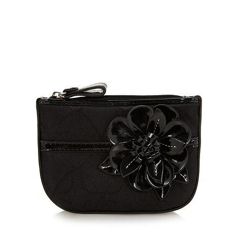Principles by Ben de Lisi - Designer black jacquard corsage coin purse