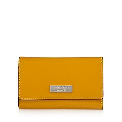 Principles by Ben de Lisi - Mustard patent fold over medium purse