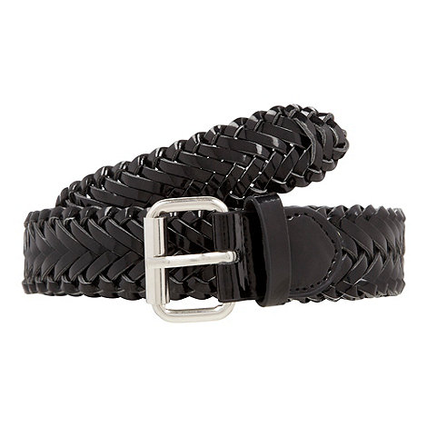 The Collection - Black patent weave belt