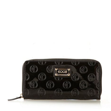 Floozie by Frost French - Black large patent embossed logo purse