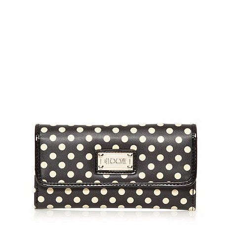Floozie by Frost French - Black polka dot popper purse