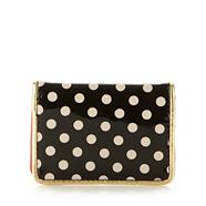 Black spotted travel card holder