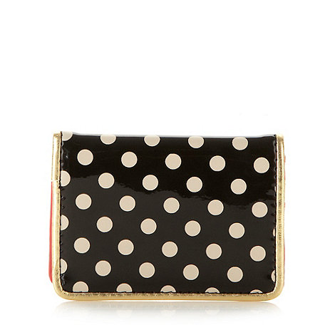 Floozie by Frost French - Black spotted travel card holder