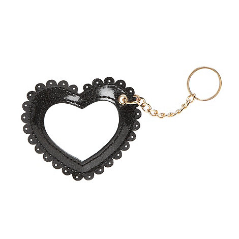 Floozie by Frost French - Black heart mirror keyring