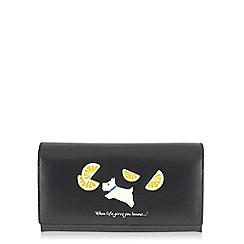 Radley - Lemons black large flapover matinee purse