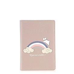 Radley - Rainbow pale pink passport cover