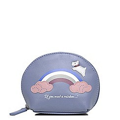Radley - Rainbow blue small coin purse