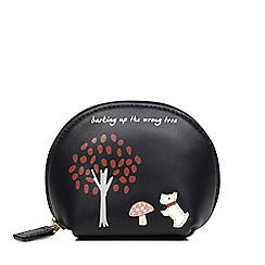 Radley - The Wrong Tree Black Small Zip Around Coin Purse