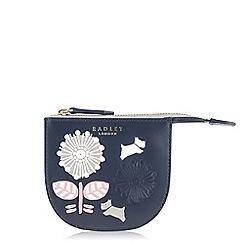 Radley - Folk floral navy small coin purse