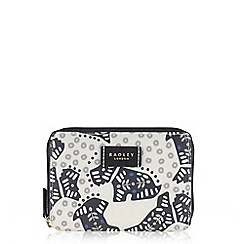 Radley - Folk dog ivory medium zip around purse