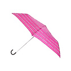 J by Jasper Conran - Designer pink branded stripe umbrella