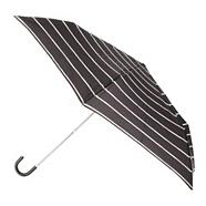 Designer black branded stripe umbrella