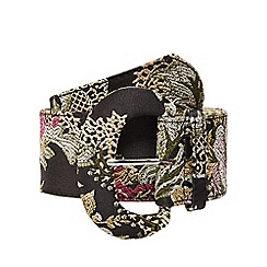Red Herring - Multi-coloured oriental embroidered belt