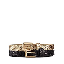 The Collection - Pack of two thin glitter belts