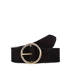 The Collection - Black suedette circle buckle belt
