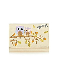 Mantaray - Cream owl appliqué medium purse