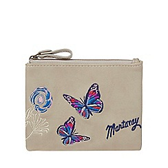Mantaray - Grey butterfly embroidery coin purse