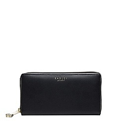 Radley - Arlington street black large zip around matinee purse