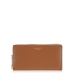 Radley - Arlington street tan large zip around matinee purse