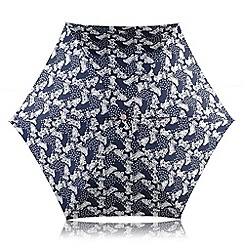 Radley - Navy 'Folk Dog' mini telescopic umbrella