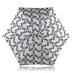 Radley - Ivory 'Folk Dog' mini telescopic umbrella