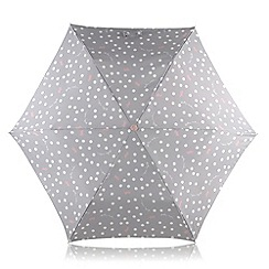 Radley - Grey 'Vintage Dot Dog' mini telescopic umbrella