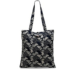 Radley - Navy folk dog foldaway tote bag