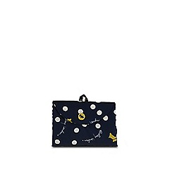 Radley - Vintage dog dot navy foldaway tote bag