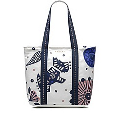 Radley - Folk floral natural large zip-top tote bag