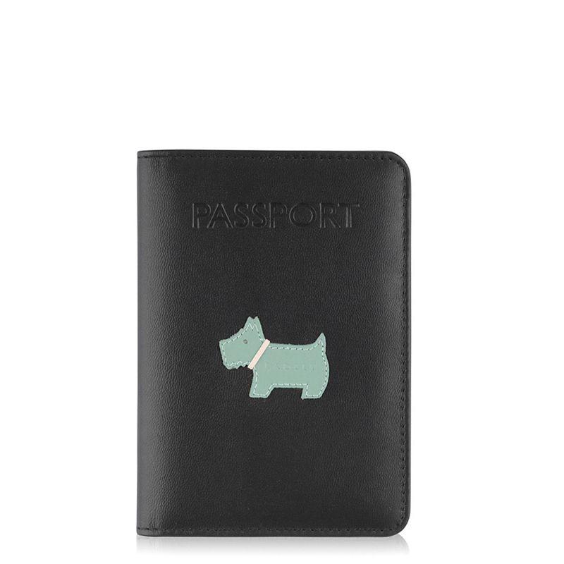 Radley Heritage dog black passport cover