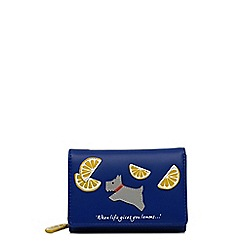 Radley - Lemons blue small folded purse