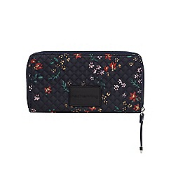 Red Herring - Multi-coloured quilted floral print purse