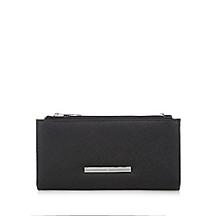 Red Herring - Black double zip wristlet bag