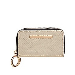 Red Herring - Gold zip around small purse