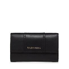 RJR.John Rocha - Black leather flap over medium purse