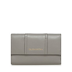RJR.John Rocha - Grey leather flap over medium purse