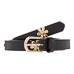 The Collection - Black daisy studded waist belt