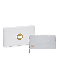 Mi-Pac - Silver mirrored zip around large purse