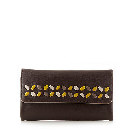 Bailey & Quinn - Dark brown leather +Glastonbury+ matinee purse