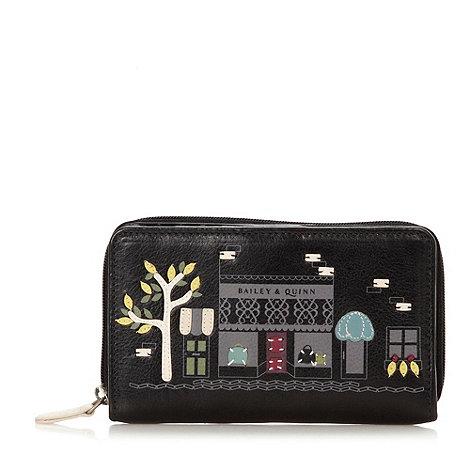 Bailey & Quinn - Black leather shop picture purse