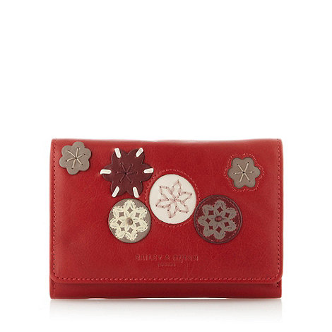 Bailey & Quinn - Red leather +Kew+ medium flapover purse