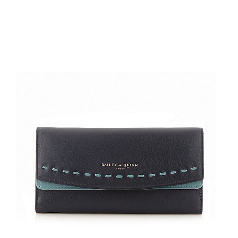 Bailey & Quinn - Navy leather +Hartley+ matinee purse