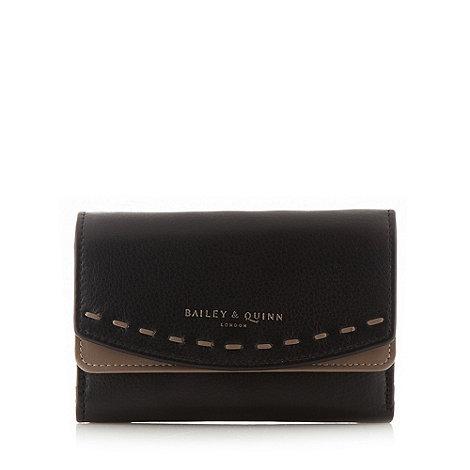 Bailey & Quinn - Black leather +Hartley+ flapover purse