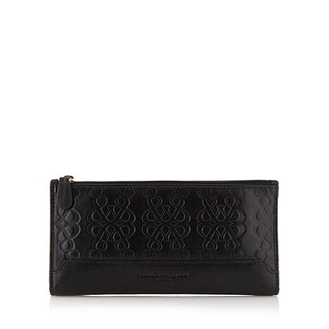 Bailey & Quinn - Black leather embossed logo purse