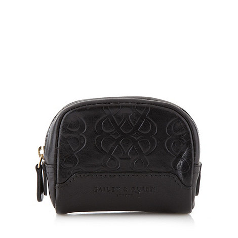 Bailey & Quinn - Black leather +Hampstead+ coin purse