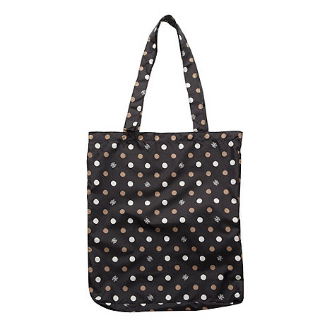 Bailey & Quinn - Black spotted fold up shopper bag