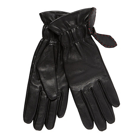 Bailey & Quinn - Black leather 'Putney' gloves