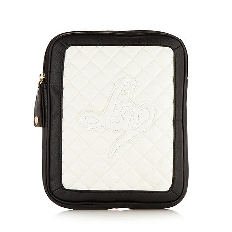 Lipsy - White quilted iPad case